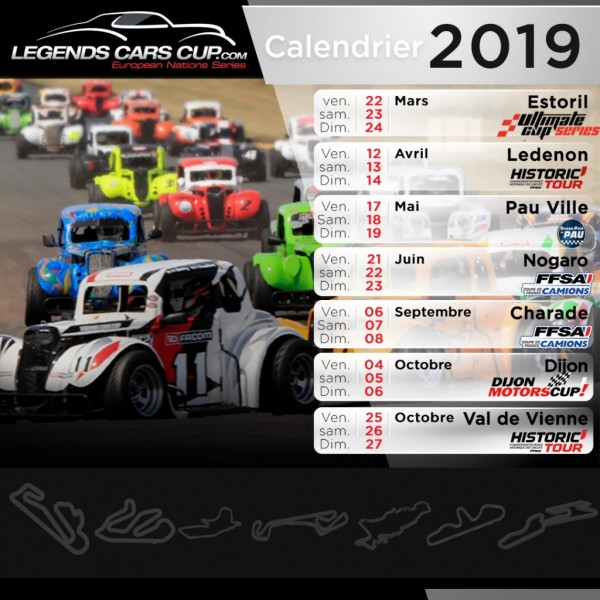 Circuit Val De Vienne Calendrier 2019.Gtro Legends Cars Cup 2019